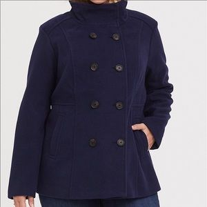 torrid Navy Peacoat Jacket Coat